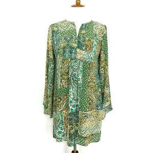 Anthropologie Floreat Amelie Silk Kimono Dress 6